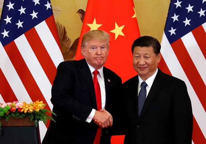 Presidente dos Estados Unidos, Donald Trump, e presidente da China, Xi Jinping, em Pequim 09/11/2017 REUTERS/Damir Sagolj